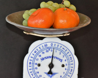 Weighing Food on Scale