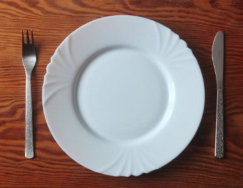 Empty Fasting Plate