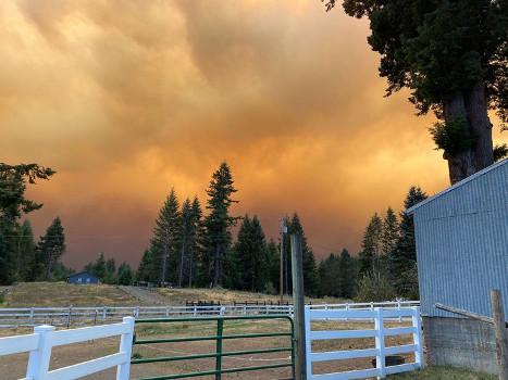 Wildfires in Clackamas, Oregon
